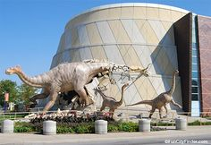 Photo of the Indianapolis Children's Museum in downtown Indianapolis, Indiana  Largest children's museum in the world!