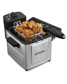 Proctor Silex Professional-Style Electric Deep Fryer Stainless Steel Great for single-serve portions liter oil capacity servings Space-saving size Fast frying & heat-up Best Deep Fryer, Electric Deep Fryer, Electric Oven, Apple Fritters, Mouth Watering Food, Heating Element, Small Kitchen Appliances, Kitchen Gadgets, Retro Appliances