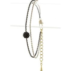 Disco Ball Double Strand Bracelet - Black