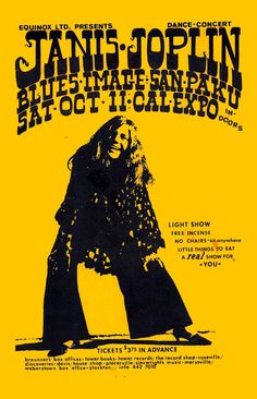 """JANIS JOPLIN1968 Sacramento California Concert Poster • 100% Mint unused condition • Well discounted price + we combine shipping • Click on image for awesome view • Poster is 12"""" x 18"""" • Semi-Gloss Finish • Great Music Collectible - superb copy of original • Usually ships within 72 hours or less with tracking. • Satisfaction guaranteed or your money back.Go to: Sportsworldwest.com"""