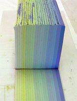 Chris Campbell creating layers of colors using clay and mason stains
