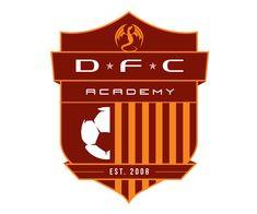 custom soccer logo design for dfc soccer academy by jordan fretz design Basketball Logo Design, Soccer Logo, Hockey Logos, Sports Team Logos, Basketball Teams, Soccer Academy, Academy Logo, Rb Logo, Gallery