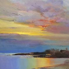 Holly Ready Gallery: Recent Paintings Abstract Landscape, Landscape Paintings, Abstract Art, Sky Painting, Oil Painting On Canvas, Cool Paintings, Beautiful Paintings, Sea Art, Pics Art