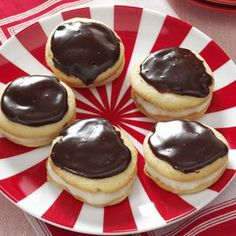 Boston Cream Pie Cookies from Taste of Home -- shared by Evangeline Bradford of Erlanger, Kentucky