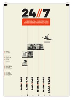 24//7 - Tel Aviv based Magazine by Moshik Nadav by Moshik Nadav Typography, via Behance