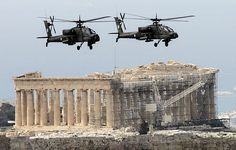 OVER ACROPOLIS, ON HELLENIC NATIONAL DAY PARADE