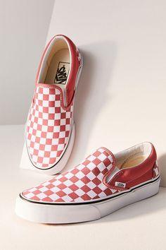 Vans Checkerboard Slip-On Sneaker - Women Fashion Black Slip On Sneakers, Vans Slip On, Vans Sneakers, Sneakers Fashion, Fashion Shoes, Leopard Sneakers, Cute Vans, Cute Shoes, Me Too Shoes