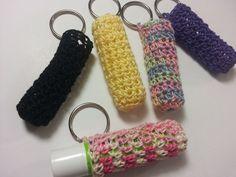 Poochie Baby Crochet Designs: Free Crochet Pattern: Lip Balm Cozy Keychain