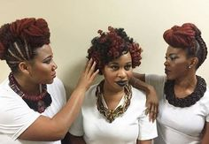 Natural Sistas Supporting Each Other; Priceless @freeyourroots - http://community.blackhairinformation.com/hairstyle-gallery/natural-hairstyles/natural-sistas-supporting-priceless-freeyourroots/