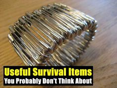 Useful Survival Items You Probably Don't Think About - SHTF, Emergency Preparedness, Survival Prepping, Homesteading Survival Items, Survival Equipment, Survival Life, Survival Food, Homestead Survival, Wilderness Survival, Outdoor Survival, Survival Prepping, Emergency Preparedness