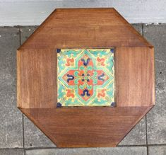 Antique Spanish Revival California Tile Top Side Table W x H Tile Tables, Dinning Room Tables, Vintage California, Spanish Revival, Arts And Crafts, Antiques, Top, Kitchen Dining Tables, Antiquities