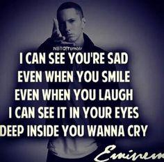 Deep inside you wanna cry....