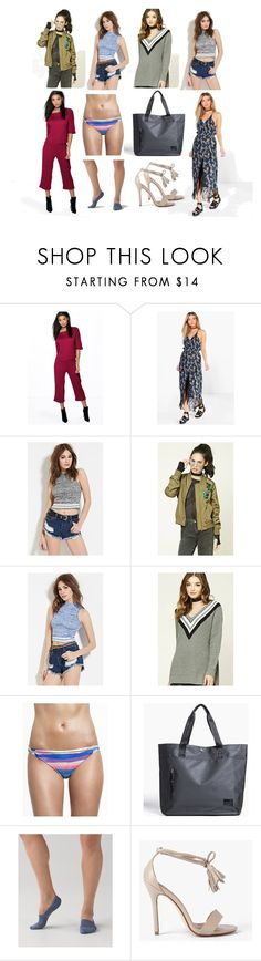 """""""New Posts"""" by cate-jennifer ❤ liked on Polyvore featuring Boohoo, Forever 21, Mara Hoffman, Herschel Supply Co., lululemon and vintage"""