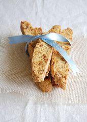 Caramelized pecan-orange biscotti