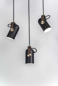 The New Carronade series originated from a small table lamp with a playful yet challenging and distinctive shape, of a small cannon.  The Carronade spot pendant is the perfect spotlight. Ideal as a single working light and general light source for business and home use. These small pendants, are perfectly sized to hang as a beautiful cluster, in a row or at various angles to highlight the rotating head feature.   Carronade spot pendant - always the best choice.  Manufactured in matt black…