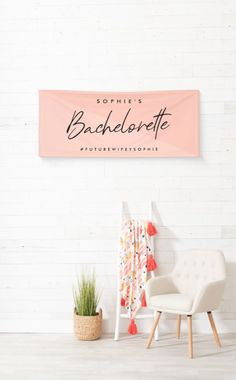 This stylish custom Bachelorette design features a handwritten script typography and pastel peachy pink dual tone diagonal background. You can easily personalize the bride-to-be's name, date and hashtag or add your custom message! The perfect modern minimalist accessory for a bachelorette party or bachelorette weekend! Why not use as a photo backdrop - the perfect choice for a DIY photobooth for your best social media snaps! #bachelorette #decor #banner Diy Photo Booth, Outdoor Banners, Bachelorette Weekend, Modern Minimalist, Backdrops, Pastel, Pink, Inspiration, Design