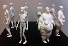 Weight-Fluctuating Female Sculptures : Eve by Ted Lawson