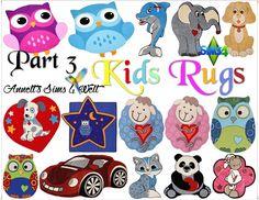 Annett's Sims 4 Welt: Kids Rugs - Part 3
