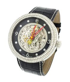 Jacob & Co. Valentin Yudashkin Skeleton Swiss Auto 48mm Diamond Watch Wvy-038. => http://www.amazon.com/Jacob-Co-Valentin-Yudashkin-WVY-038/dp/B00E4WVOTQ/watches0906-20/ => Brand, Seller, or Collection Name:Jacob & Co.,Model number:WVY-038,Part Number:WVY-038,Item Shape:Round,Case diameter:48 millimeters,Band Material:Louisiana Alligator Hand Made,Band width:27 millimeters,Band Color:Black,Dial color:Shiny Black Dial with 0.25Ct Diamonds,Water resistant depth:5,Warranty type:Factory Warranty