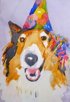 Party animal, painting by artist Jo MacKenzie