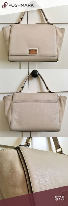 Kate Spade Slouchy Handbag Leather body with suede sides. Very small stain on the front but other than that the bag has aged very nicely. Comes with cross body strap kate spade Bags Satchels