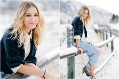 beautiful senior session in the snow by Amanda Nelson