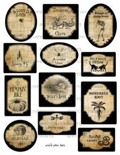Wizard Potion Labels Printable apothecary harry par MyPorchPrints