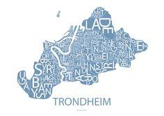 Plakat og poster av Trondheim | Designbyodd.no