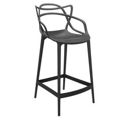 Masters barstool, black by Philippe Starck