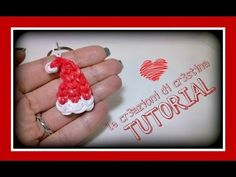 Tutorial Cappello Babbo Natale con Elastici RAINBOW LOOM - DIY Santa Claus Christmas Charm - YouTube