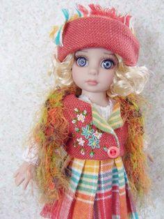 "Handmade Jacket and skirt set made for Tonner 10"" Patsy Dolls"