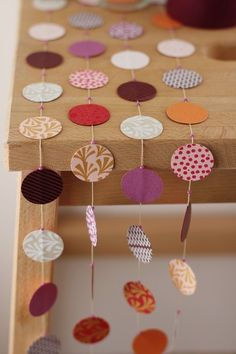 could use different papers to make these for all occasions, then use them as window hangings, table drapes, door hangings, garland ... so many potential uses!