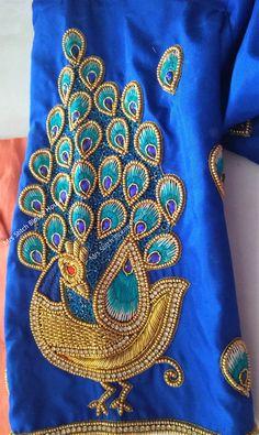 Latest Bridal Blouse Design - Peacock Designs