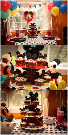 #Mickey #Mouse #party #ideas #pops #birthday #Cupcakes