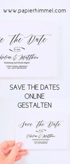 39 besten Save The Date Bilder auf Pinterest | Hochzeiten ...