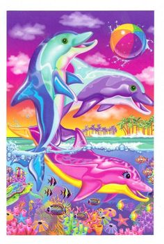 Lisa frank Dolphins. If I got this tatted on me they would be in the water making the shape of a heart
