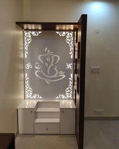 Living Room Partition Design, Room Partition Designs, Living Room Tv Unit Designs, Bedroom False Ceiling Design, Pooja Room Door Design, Home Room Design, House Design, Temple Room, Altar