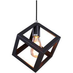 Cube Vintage Industrial Mini Pendant Lamp Light