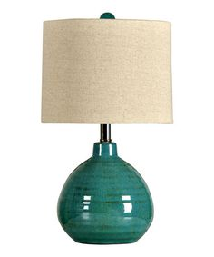 Turquoise Gourd Lamp #zulily #zulilyfinds