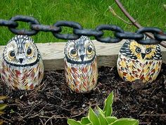 Those painted rock owls look so cute in the flower garden or perched on a rock or bench.