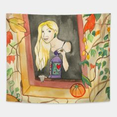 Tapestries by fairychamber Art And Illustration, Wall Tapestries, Tapestry, Whimsical Art, Halloween, Painting, Tapestries, Wall Hangings, Painting Art