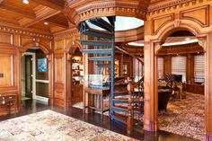 Mid-sized Luxury Home Office - traditional - Staircase - Other Metro - WL INTERIORS