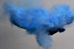 Blue Smoke-Bomb Experiment. [Winter 2014]
