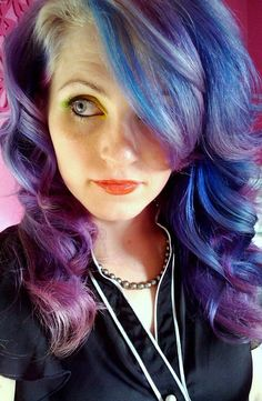 blurple by ugg-off, via Flickr. Blue and purple and silver and lilac hair.