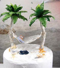 Beach Wedding Cake Topper Made To Order by Memoriesnminiature