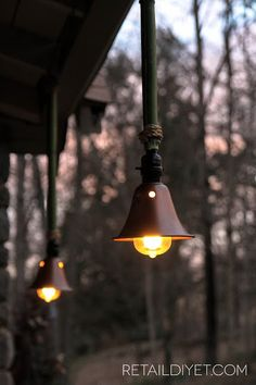 Want these outdoor lights overhaulin the dyers lil cottage retail diy et made these wonderful outdoor lights from stalks of bamboo she chopped down mozeypictures Gallery