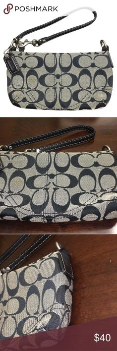 Black Coach wristlet Perfect size for going out!! Great condition! Coach Bags Clutches & Wristlets