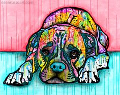 Lying Boxer | The Artful Dog by Dean Russo