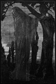 františek bílek - Hledat Googlem Witchcraft, Printmaking, Art Nouveau, Gothic, Museum, Fine Art, Folklore, Drawings, Prints
