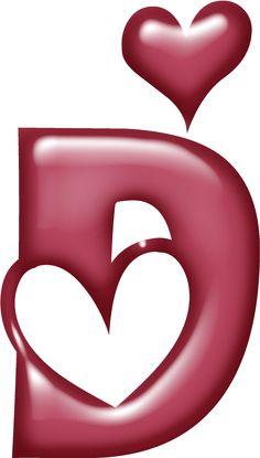 Alfabeto muy grande con corazones.   Oh my Alfabetos!